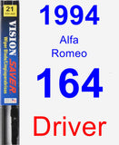 Driver Wiper Blade for 1994 Alfa Romeo 164 - Vision Saver