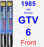 Front Wiper Blade Pack for 1985 Alfa Romeo GTV-6 - Vision Saver