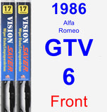 Front Wiper Blade Pack for 1986 Alfa Romeo GTV-6 - Vision Saver