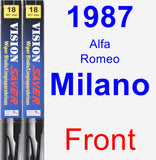 Front Wiper Blade Pack for 1987 Alfa Romeo Milano - Vision Saver