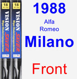 Front Wiper Blade Pack for 1988 Alfa Romeo Milano - Vision Saver