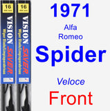 Front Wiper Blade Pack for 1971 Alfa Romeo Spider - Vision Saver