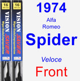 Front Wiper Blade Pack for 1974 Alfa Romeo Spider - Vision Saver