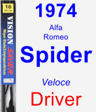 Driver Wiper Blade for 1974 Alfa Romeo Spider - Vision Saver
