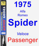 Passenger Wiper Blade for 1975 Alfa Romeo Spider - Vision Saver
