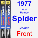 Front Wiper Blade Pack for 1977 Alfa Romeo Spider - Vision Saver