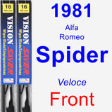 Front Wiper Blade Pack for 1981 Alfa Romeo Spider - Vision Saver