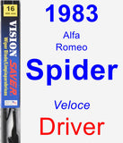 Driver Wiper Blade for 1983 Alfa Romeo Spider - Vision Saver