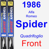 Front Wiper Blade Pack for 1986 Alfa Romeo Spider - Vision Saver