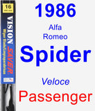 Passenger Wiper Blade for 1986 Alfa Romeo Spider - Vision Saver