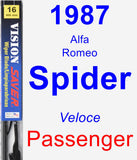 Passenger Wiper Blade for 1987 Alfa Romeo Spider - Vision Saver