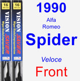 Front Wiper Blade Pack for 1990 Alfa Romeo Spider - Vision Saver
