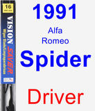 Driver Wiper Blade for 1991 Alfa Romeo Spider - Vision Saver