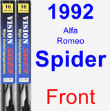 Front Wiper Blade Pack for 1992 Alfa Romeo Spider - Vision Saver