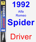 Driver Wiper Blade for 1992 Alfa Romeo Spider - Vision Saver