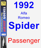 Passenger Wiper Blade for 1992 Alfa Romeo Spider - Vision Saver
