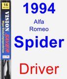 Driver Wiper Blade for 1994 Alfa Romeo Spider - Vision Saver