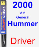 Driver Wiper Blade for 2000 AM General Hummer - Vision Saver