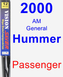 Passenger Wiper Blade for 2000 AM General Hummer - Vision Saver
