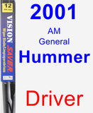 Driver Wiper Blade for 2001 AM General Hummer - Vision Saver