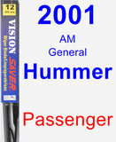 Passenger Wiper Blade for 2001 AM General Hummer - Vision Saver