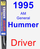 Driver Wiper Blade for 1995 AM General Hummer - Vision Saver