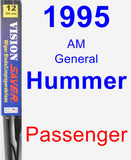 Passenger Wiper Blade for 1995 AM General Hummer - Vision Saver