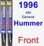 Front Wiper Blade Pack for 1996 AM General Hummer - Vision Saver