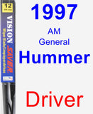 Driver Wiper Blade for 1997 AM General Hummer - Vision Saver