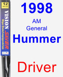 Driver Wiper Blade for 1998 AM General Hummer - Vision Saver