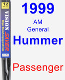 Passenger Wiper Blade for 1999 AM General Hummer - Vision Saver