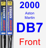 Front Wiper Blade Pack for 2000 Aston Martin DB7 - Vision Saver