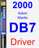 Driver Wiper Blade for 2000 Aston Martin DB7 - Vision Saver