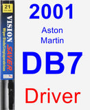 Driver Wiper Blade for 2001 Aston Martin DB7 - Vision Saver