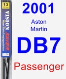 Passenger Wiper Blade for 2001 Aston Martin DB7 - Vision Saver