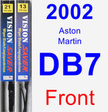 Front Wiper Blade Pack for 2002 Aston Martin DB7 - Vision Saver