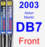 Front Wiper Blade Pack for 2003 Aston Martin DB7 - Vision Saver