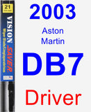 Driver Wiper Blade for 2003 Aston Martin DB7 - Vision Saver