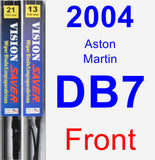 Front Wiper Blade Pack for 2004 Aston Martin DB7 - Vision Saver