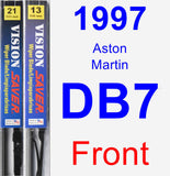 Front Wiper Blade Pack for 1997 Aston Martin DB7 - Vision Saver