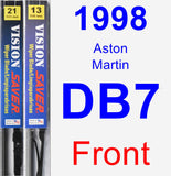 Front Wiper Blade Pack for 1998 Aston Martin DB7 - Vision Saver
