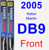 Front Wiper Blade Pack for 2005 Aston Martin DB9 - Vision Saver