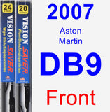 Front Wiper Blade Pack for 2007 Aston Martin DB9 - Vision Saver
