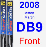 Front Wiper Blade Pack for 2008 Aston Martin DB9 - Vision Saver