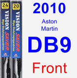 Front Wiper Blade Pack for 2010 Aston Martin DB9 - Vision Saver