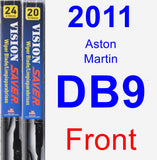 Front Wiper Blade Pack for 2011 Aston Martin DB9 - Vision Saver