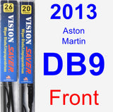Front Wiper Blade Pack for 2013 Aston Martin DB9 - Vision Saver
