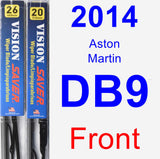 Front Wiper Blade Pack for 2014 Aston Martin DB9 - Vision Saver