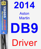 Driver Wiper Blade for 2014 Aston Martin DB9 - Vision Saver