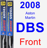 Front Wiper Blade Pack for 2008 Aston Martin DBS - Vision Saver
